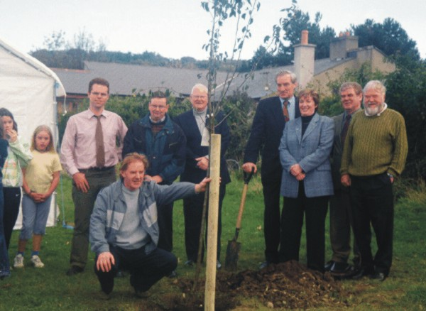 Councillors attend a tree planting ceremony on Sports Day in Ballinclea Park.